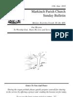 Sunday Bulletin - Jun 13 2010