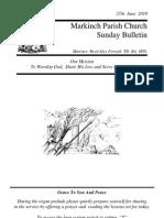 Sunday Bulletin - Jun 27 2010