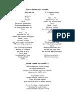 Canto en Ingles y Español