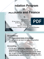 (1) Foundation Course in Finance and Accounts