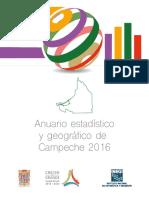 Anuario Estadístico y Geográfico de Campeche 2016