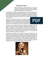 Biografía de Heráclito