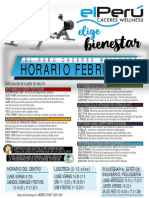horarios Perú 7 welness
