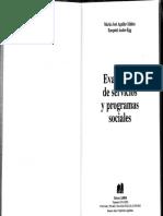 Evaluación de Servicios y Programas Sociales1