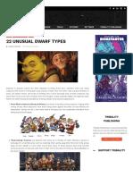 22 Unusual Dwarf Types
