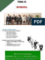 TEMA 9.1. Interviul de Angajare. COMPLETAT
