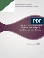 Relatorio Formulasnutricionais APLV-CP