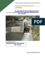 Irrigacion Canal Inca Calca