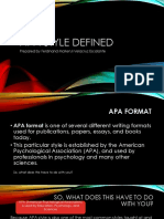 APA Style Defined