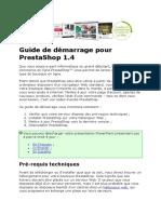 PrestaShop Guide de Démarrage