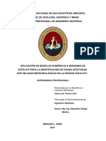 Aplicación de Modelos Numéricos e Imágenes de Satelites Para Identificacion de Heladas