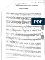 Acta de entrevista ante la Fiscalía del Estado de Mérida
