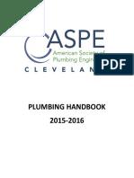 ASPE Cleveland Chapter Plumbing Handbook 2015-2016