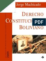 Derecho Constitucional Boliviano de Jorge Machicado