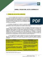 Lectura 4. Forma, Vicios Del Acto Juridico e Inefacia