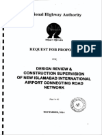 Rfp Design Review and Const Supervision New Islamabad Airport Roads