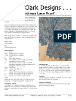 Madrona Lace Scarf Pattern PDF