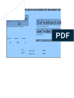 Resolucion dela Formula de 2°Grado.xls