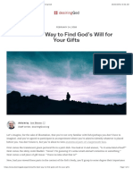 The Best Way to Find God's Will for Your Gifts | Desiring God