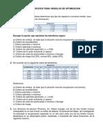 Serie de Ejercicios Tema i Modelos de Optimizacion