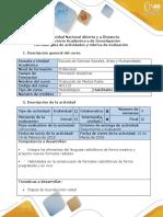 Guía de Actividades y Rubrica de Evaluación - Fase 2 - Elementos de La Preproducción Radiofónica