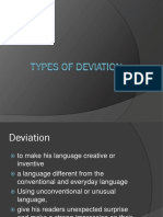types of deviation-