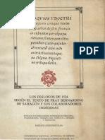 Sahagún, Bernardino de - Coloquios y Doctrina Cristiana Donde Los Doce... (León Portilla)