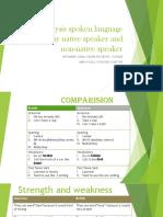 Analysis Spoken Language Spoke by Native Speaker And