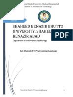lab manual of c