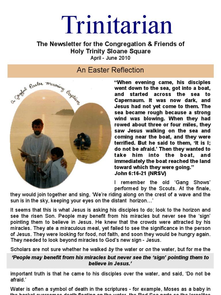 April 2010 Trinitarian Newsletter, Holy Trinity Sloane