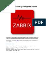 Como Instalar y Configurar Zabbix