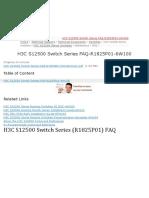 H3C S12500 Switch Series (R1825P01) FAQ