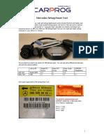 CARPROG Mercedes Benz Airbag Reset Manual