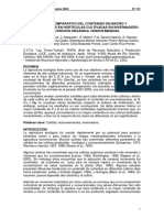Estudio Comparativo Del Contenido en Macro y Micronutrientes en Hortícolas Cultivadas en Invernadero Con Nutrición Orgánica Versus Mineral