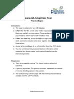 SJT Practice Paper (1)