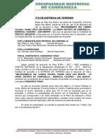 2. Acta de Entrega de Terreno La Union