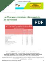 Las 50 Carreras Universitarias Más Demandadas