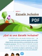 2da Sesión Escuela Inclusiva