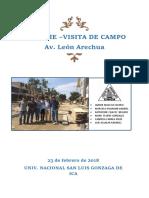 visita de campo de León Arechua