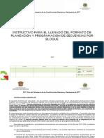 Taller Instructivo de Formato de Planeacion y Programacion de Secuencias Por Bloque Versio