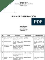 Plan de Observación.