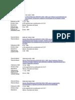 Listado de Normas Oficiales Mexicanas de La Secretaria de Salud