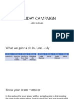 Campaign Plan and Timeline