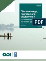 Climate Change, Migration Displacement
