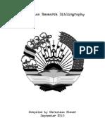 Tajikistan Bibliography - working draft