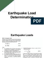 Earthquake Methods