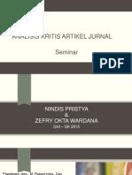 Analisis Kritis Artikel Jurnal Seminar Presentasi
