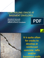 Controlling Cracks at Basement Envelopes - By Mamdouh Hamouda
