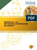 12. Memoria 2012 2013 Red Investigacion en Alimentos