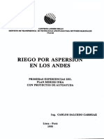 Riego Aspersion Andes Peru